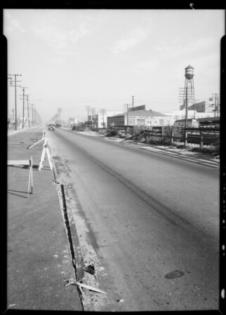 Scene of accident near 6501 South Alameda Street, Cantlay & Janzola assured, Southern California, 1933