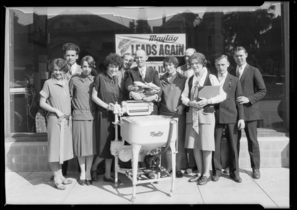 Maytag group - washing machines, Southern California, 1926