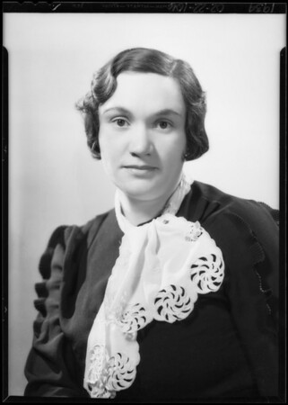 Miss Zimmerman, Southern California, 1934