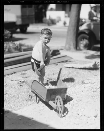 Baby at play, Southern California, 1933