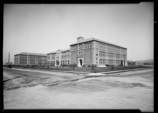 Industrial buildings in Golden Gate Park, Southern California, 1927