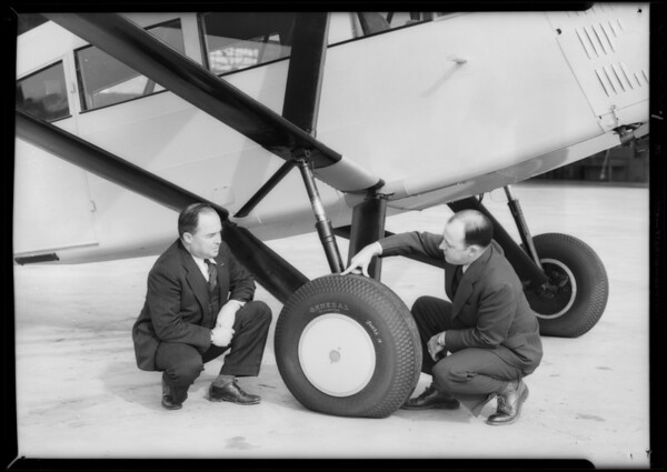"""General"" equipped plane at United Airport, Burbank, CA, 1934"