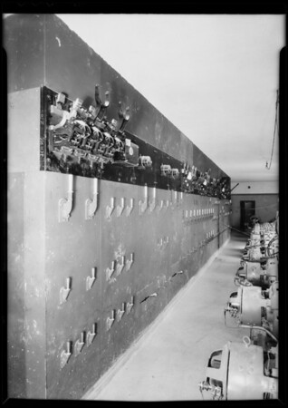 Switchboard, new General Hospital, Southern California, 1932