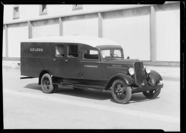 S.P. Lines Dodge delivery, Southern California, 1934