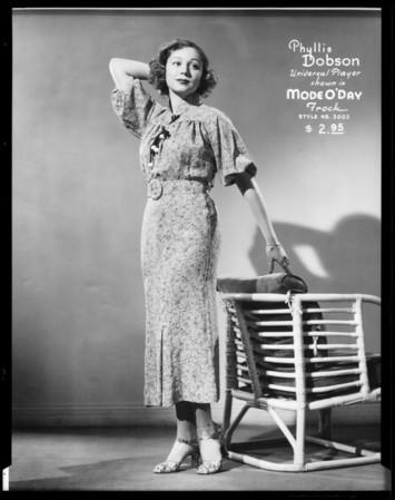 Movie stars, Mode O'Day, Southern California, 1936