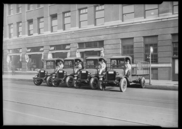 Crane Co. trucks, Southern California, 1926
