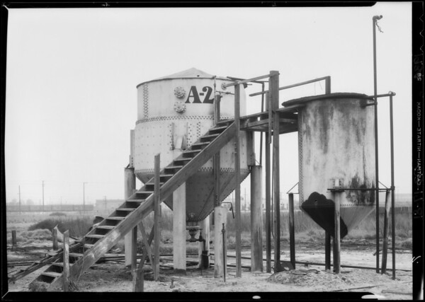 Views of oil refinery on Bandini Boulevard, Commerce, CA, 1934