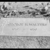 Grave marker, Southern California, 1932