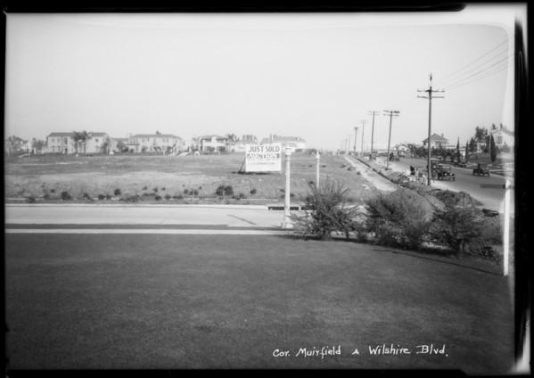 South Muirfield Road & Wilshire Boulevard, Los Angeles, CA, 1925