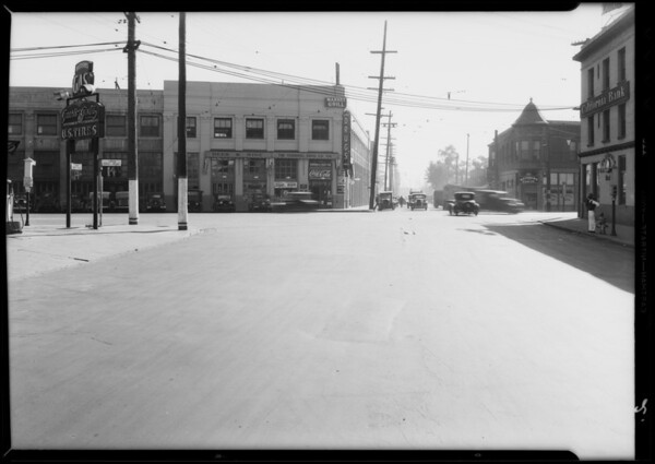 Intersection - East 8th Street & South Central Avenue, Silverman vs Jaenake, Los Angeles, CA, 1933