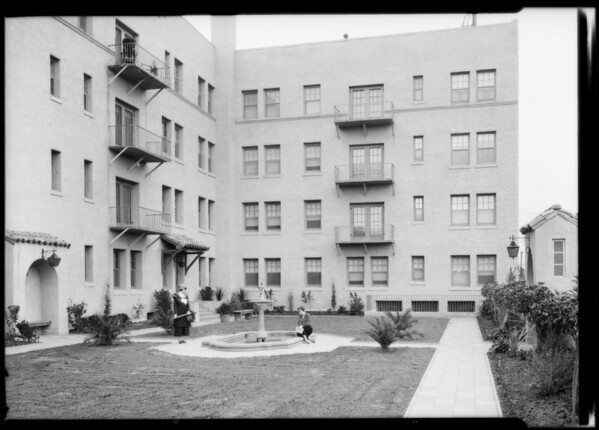 Hayvenhurst Apartments, Whitley and Franklin, Southern California, 1925