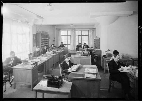 Offices in Harris building, Vocational Training Institute, Southern California, 1932