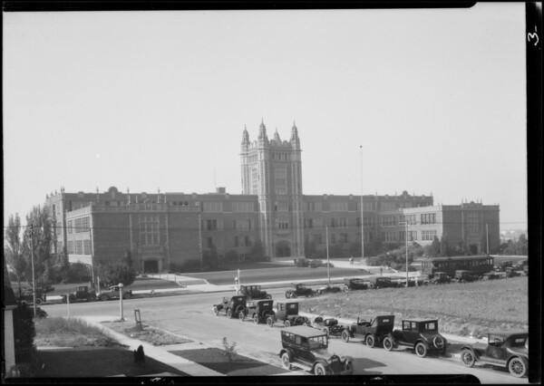 Los Angeles High School, school exteriors, 4650 West Olympic Boulevard, Los Angeles, CA, 1924