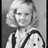 Portrait of Ruth Rasdall, 8 years old, blonde, blue eyes, Southern California, 1934