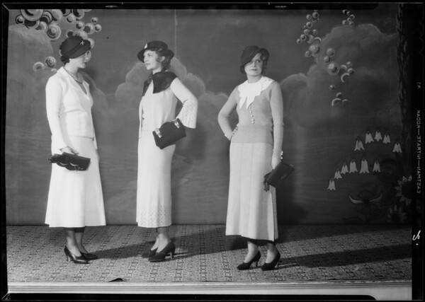 Fashions, Southern California, 1933
