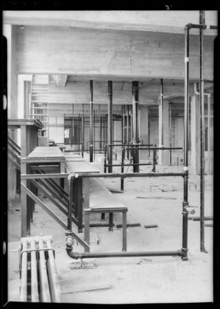 Plumbing installations, County Hospital, Los Angeles, CA, 1932