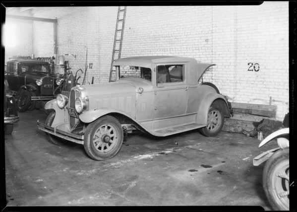 Oakland coupe, File #33AP84401, Gladys Tedford, owner, Southern California, 1933