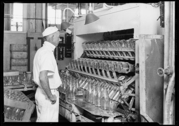 Interiors at Slauson Avenue Plant, Crescent Creamery Company, Los Angeles, CA, 1928