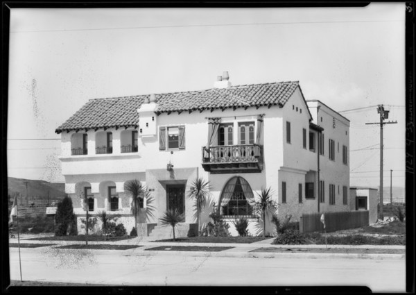 Apartments on 2nd Avenue, Southern California, 1929