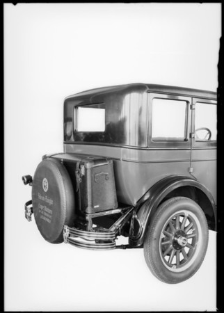 Falcon Knight trunk rack, Southern California, 1927