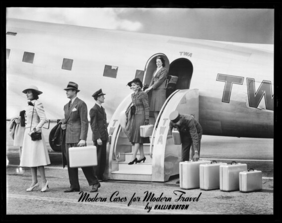 Plane group, Earle P. Halliburton Company, Southern California, 1939
