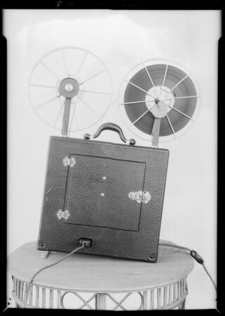 Portable movie projector, Southern California, 1934