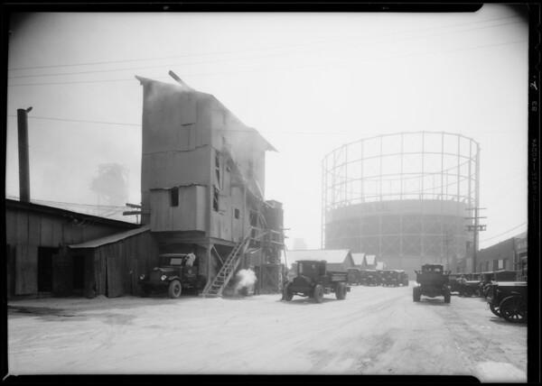 Gravel crusher insurance, Southern California, 1931