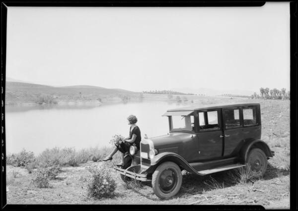 Chevrolet at Mockingbird Lake, Southern California, 1926