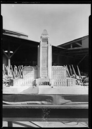 Model of Los Angeles City Hall, Southern California, 1928