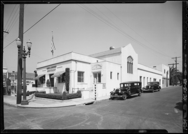 View of exterior of building, 3827 Whittier Boulevard, Los Angeles, CA, 1934