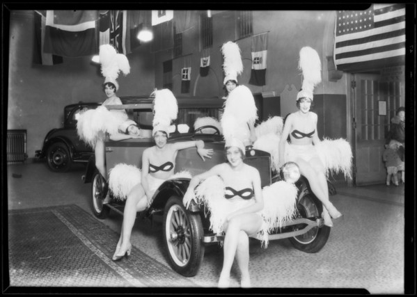 Dancing girls at Ambassador, Los Angeles, CA, 1927