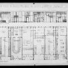 Drawing and floor plan of market at Leimert Park, Los Angeles, CA, 1928