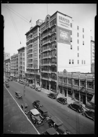 South Los Angeles Street, between East 7th Street & East 8th Street, Los Angeles, CA, 1926