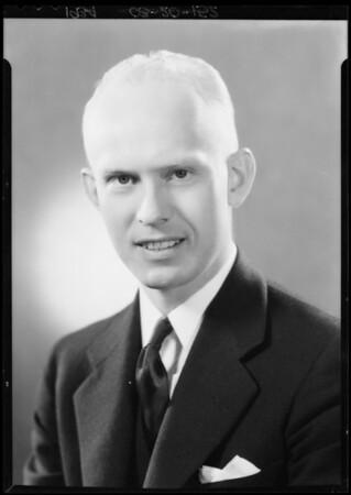 Portrait of self, Irvine O. Lindquist, Southern California, 1934