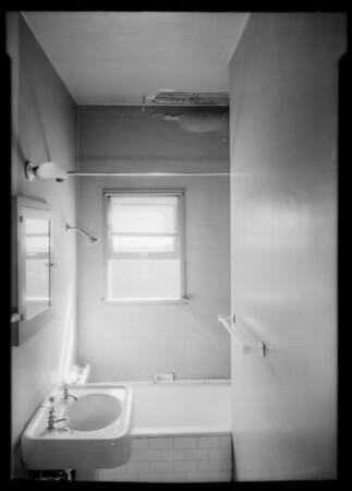 Plaster off ceiling, 2411 Budlong Avenue, Los Angeles, CA, 1934