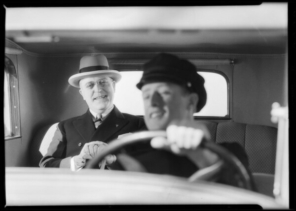 "Chauffeur etc., ""The news is spreading"", Southern California, 1932"