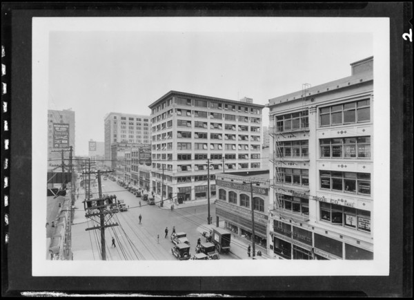 Buildings downtown, Los Angeles, CA, 1927