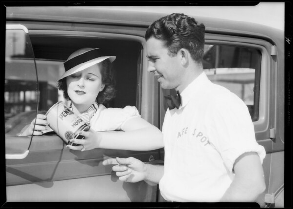 """Safespot"" publicity, Southern California, 1933"