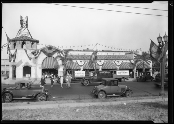 Opening of market--South Western Avenue & West 9th Street, Los Angeles, CA, 1928