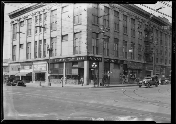 Citizens Trust and Savings Bank, Pico and Figueroa branch, Los Angeles, CA, 1927