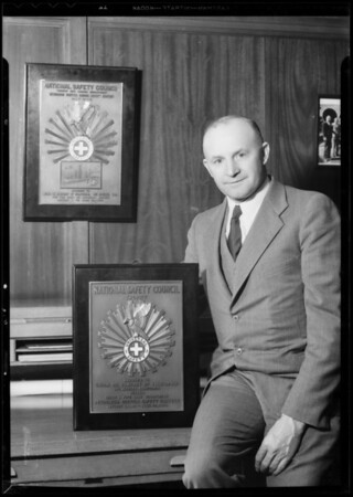 National Safety Council award, Southern California, 1933