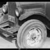 Damage to truck, Southern California, 1934