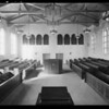 Interiors of church, Southern California, 1932