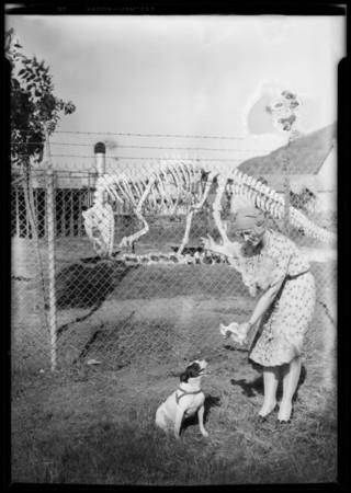 Magnolia Park publicity with Ann Carter, Burbank, CA, 1928