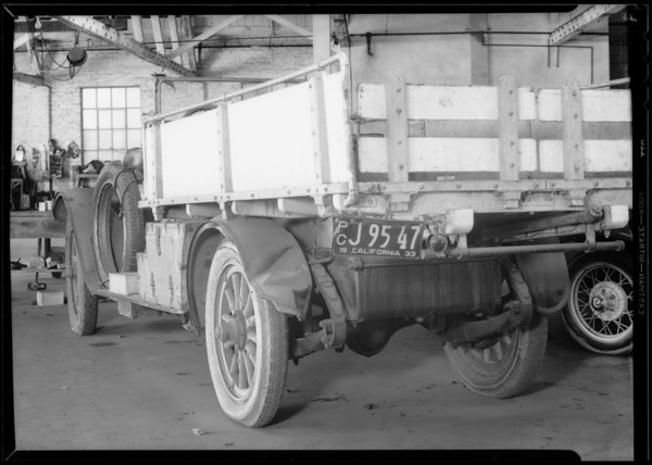 Truck body, File #6404, Southern California, 1933