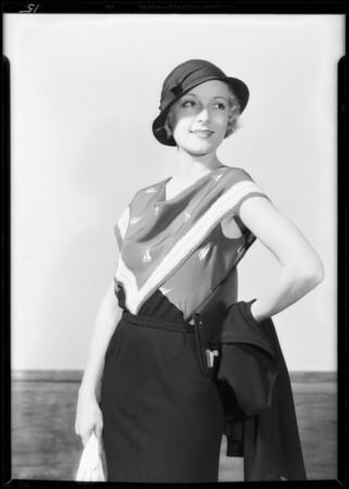 May Co. fashions, Southern California. 1932