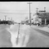 Intersection of West Jefferson Boulevard and South Hill Street, Los Angeles, CA, 1928