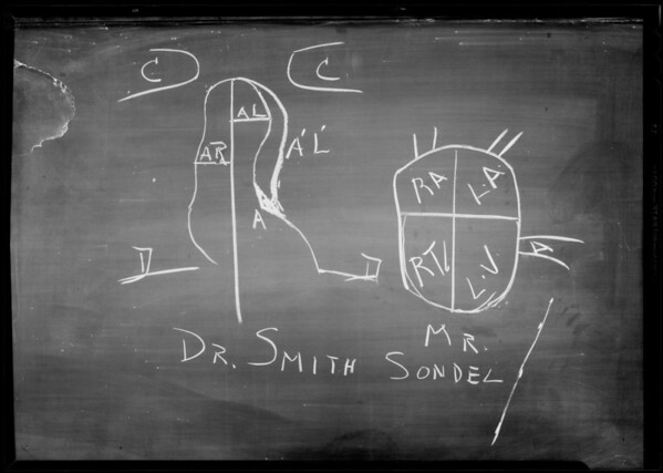 Blackboard of Heart Action, Department 42, Superior Court, Los Angeles, CA, 1933
