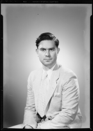 Portrait for passport, Jose Rodriguez, Southern California, 1934