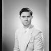 Portrait for passport, Jose Rodriguez, Southern California, 1934